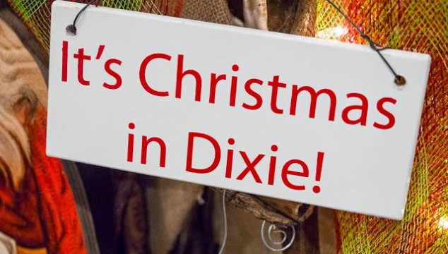 Christmas in Dixie Downtown at Night