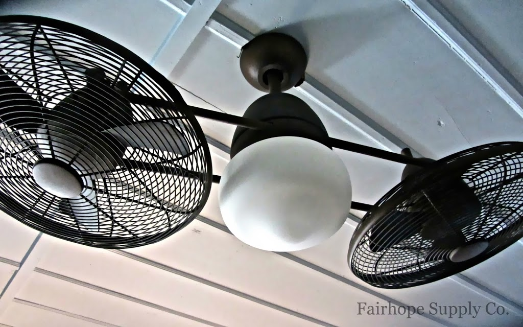 Double Fan in Breeze Inn Tybee Island, home of author Mary Kay Andrews. - Leslie Anne Tarabella.