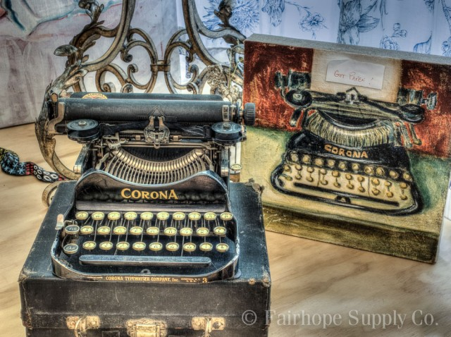 corona typewriter , Fairhope alabama