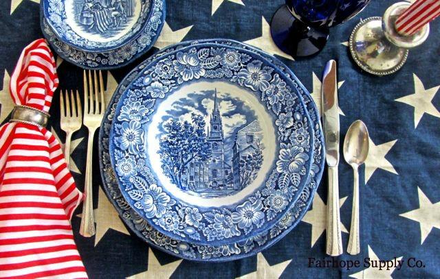 & Liberty Blue Patriotic Dinnerware