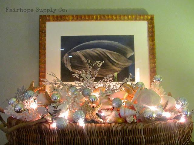 Christmas seashells