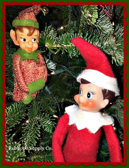 Retro and Elf on the Shelf