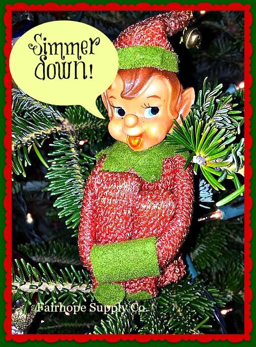 Simmer down elf