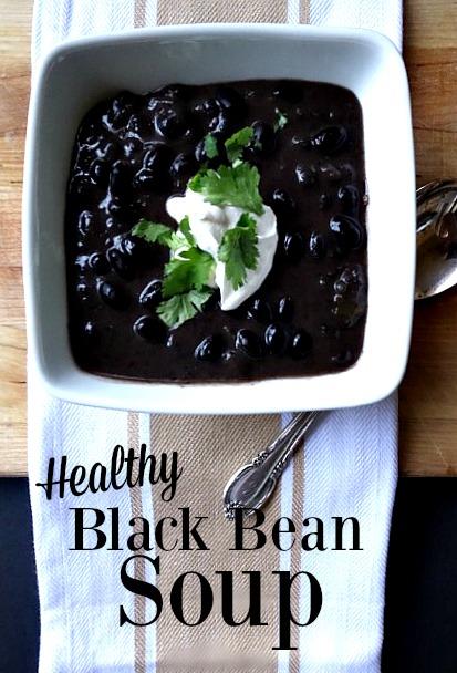 Healthy Black Bean Soup - Leslie Anne Tarabella