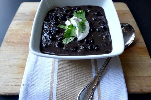 Black Bean Soup for Lent