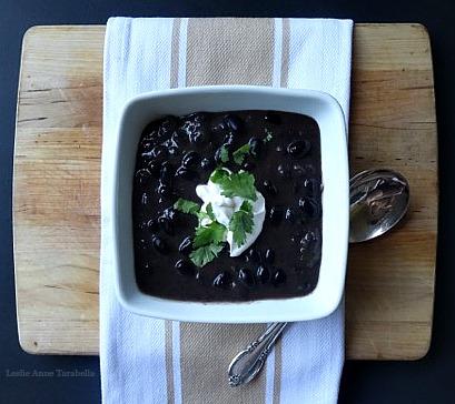 Black Bean Soup for Lent - Leslie Anne Tarabella