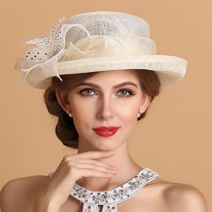 Exclusive New Elegant Rolled Brim Floral Linen Fedora Font B Hats B Font For Women Beige Leslie Anne Tarabella