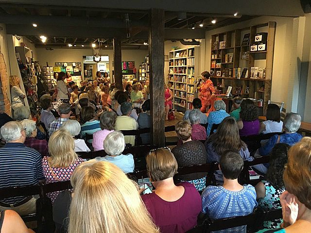 Mary Kay Andrews at Page and Palette Bookstore in Fairhope Alabama - Leslie Anne Tarabella