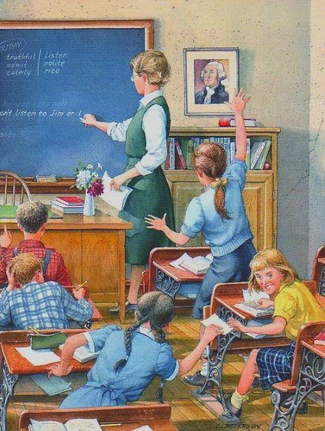 teachers used to dress for success. Story by Leslie Anne Tarabella. leslieannetarabella.com