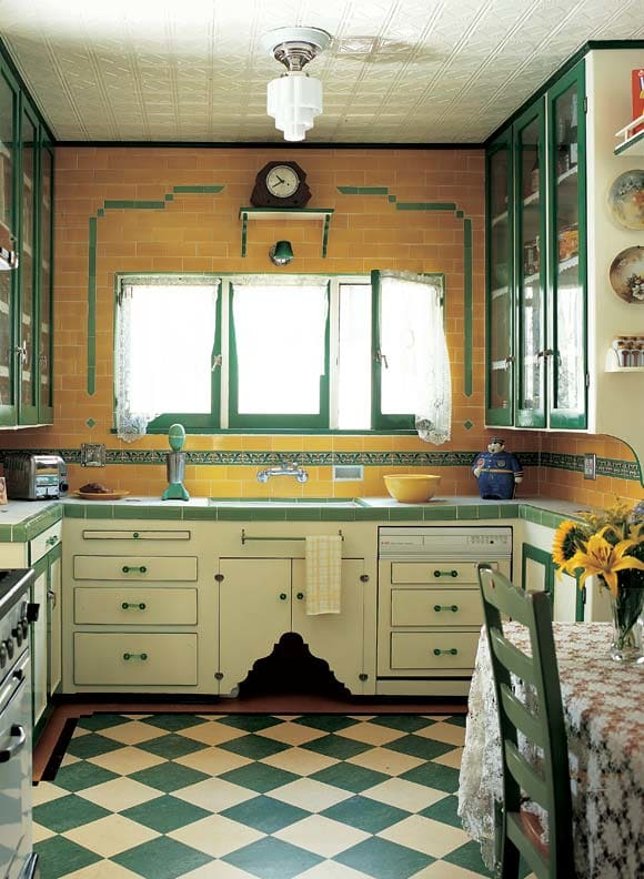 Colors bring back memories of the kitchens we loved. - by Leslie Anne Tarabella